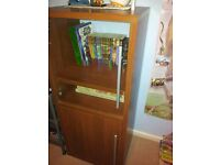 excellent condition dark wood bookcase/ display cabinet