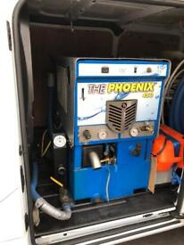Phoenix 450i truckmount truckmount carpet cleaning machine with hose, reels and wands