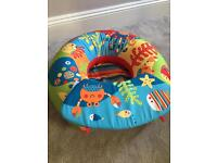 Baby sit up play inflatable ring and tray