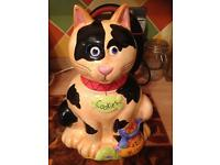 Cat Biscuit Cookie Jar