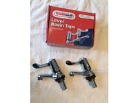 Lever Basin Taps, Chrome Plated, Tradesave, Fitting Instructions, BNIB