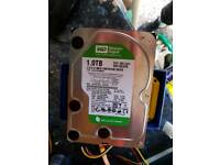 Western digital 1tb SATA hard drive