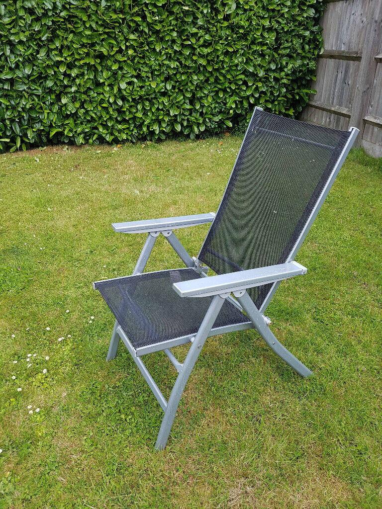 Excellent Black Semi Reclining Garden Chair In Prestwood Buckinghamshire Gumtree Ocoug Best Dining Table And Chair Ideas Images Ocougorg