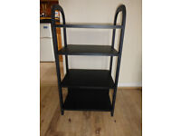 HI FI Shelving, Black, Clean and in Very Good Condition.