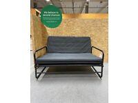 HAMMARN Sofa-bed, Knisa dark grey/black120 cm IKEA Croydon #BargainCorner