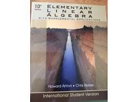 UNIVERSITY MATHEMATICS TEXTBOOK ELEMENTARY LINEAR ALGEBRA 10TH EDITION HOWARD ANTON CHRIS RORRES