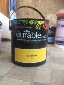 FREE Wilko Durable Matt in Bumble Bee- 1/2 tin