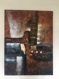 Large Textured Painting