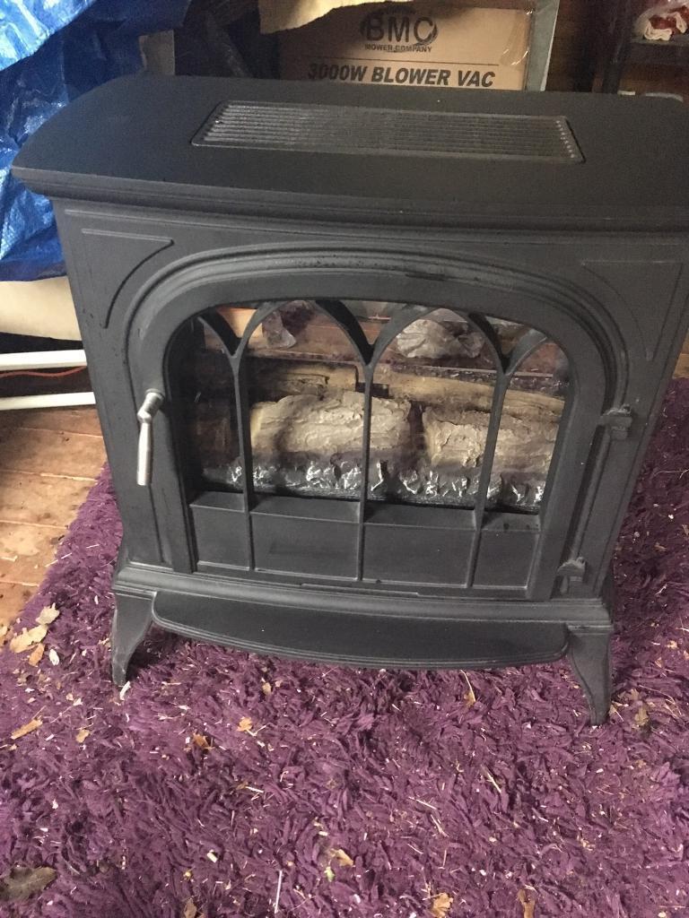 Gas log burner flueless