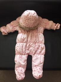 Next Floral Snowsuit - up to 1 month