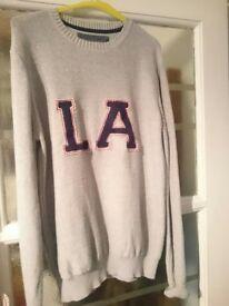 Wool Jumper LA logo size Medium