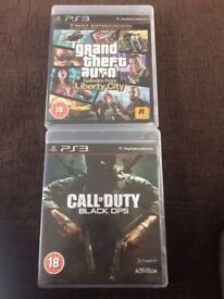 Grand Theft Auto and Call of Duty Black Ops