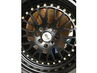 "Mazda mx5 15"" Stuttgart alloys jdm 4x100 alloys Mx5 Mini Civic"
