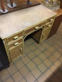 Cane dressing table. Desk.