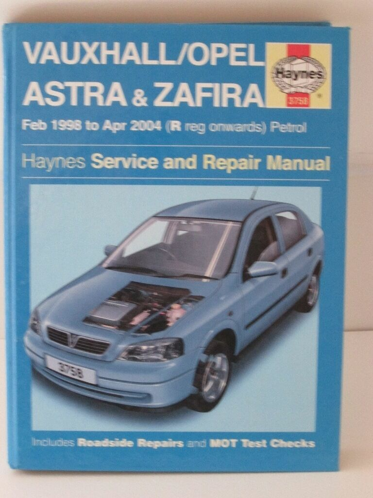 VAUXHALL ASTRA & ZAFIRA HAYNES WORKSHOP MANUAL