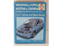 VAUXHALL ASTRA & ZAFIRA HAYNES WORKSHOP MANUAL