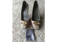 A stunning pair of beige Michael Lewis shoes