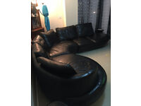 Real leather 3 piece corner sofa -Bought from DFS in excellant condion check the images