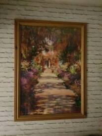 Monet garden path print 110cm x 80