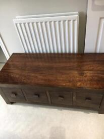 Solid Mango wood table and book case gorgeous bargain