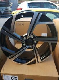 "19"" alloy wheels alloys rims tyres fits Audi seat Skoda Vw Volkswagen Golf"