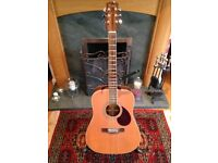 Acoustic Guitar, Solid Cedar Top, Good condition, grover tuners