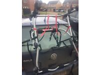 HALFORDS 2 BIKE CARRIER (NEEDS TWO STRAPS,HENCE PRICE)