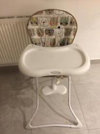 High chair graco with removable tray