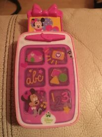 Minnie Mouse pink baby phone