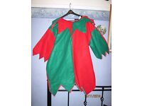 CHRISTMAS ELF OUTFIT TOP ONLY SIZE L/XL WILL PUT HAT AND SHOES WITH IT