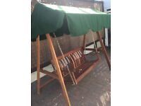 Quality wooden garden swing seat