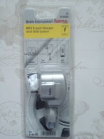 Hama MP3 Travel Charger with USB Socket only £5