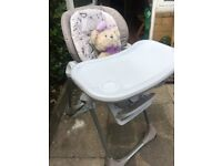 Chicco Polly Easy 4 Wheels Highchair.