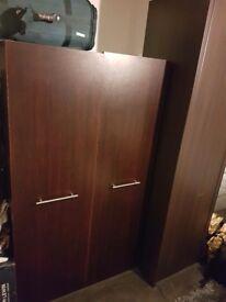 Retro Wooden Double door wardrobe