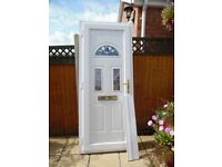 RAHAUL WHITE UPVC DOUBLE GLAZED FRONT DOOR
