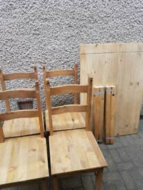 Corona mexican pine table