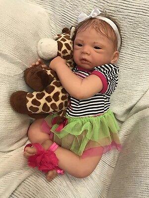 REBORN BABY GIRL CELINE BY EVELINA WOSNJUK REALISTIC NEWBORN DOLL LOW START!