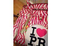 Large pb bag zebra pink