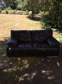 3 x 2 seater leather sofas