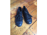 Black All Star style shoes size 5