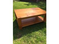 lovely pine coffee table