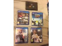PS4 Games:STEEP, TheCrew, Fifa18, battlefield 1 ,limited addition CallOfDuty infinite warfare badges