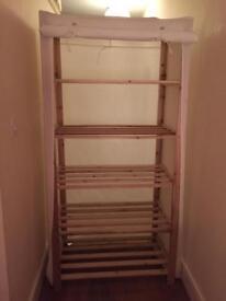 Wardrobe shelf unit wood and cotton argos great condition