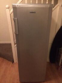 SILVER FROST FREE BEKO UPWRIGHT FREEZER IN GOOD WOORKING CONDITION