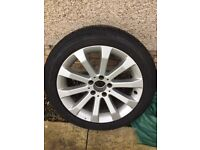 Mercedes winter alloys and tyres, excellent condition, barely used