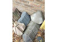 Grey concrete bonnets tiles