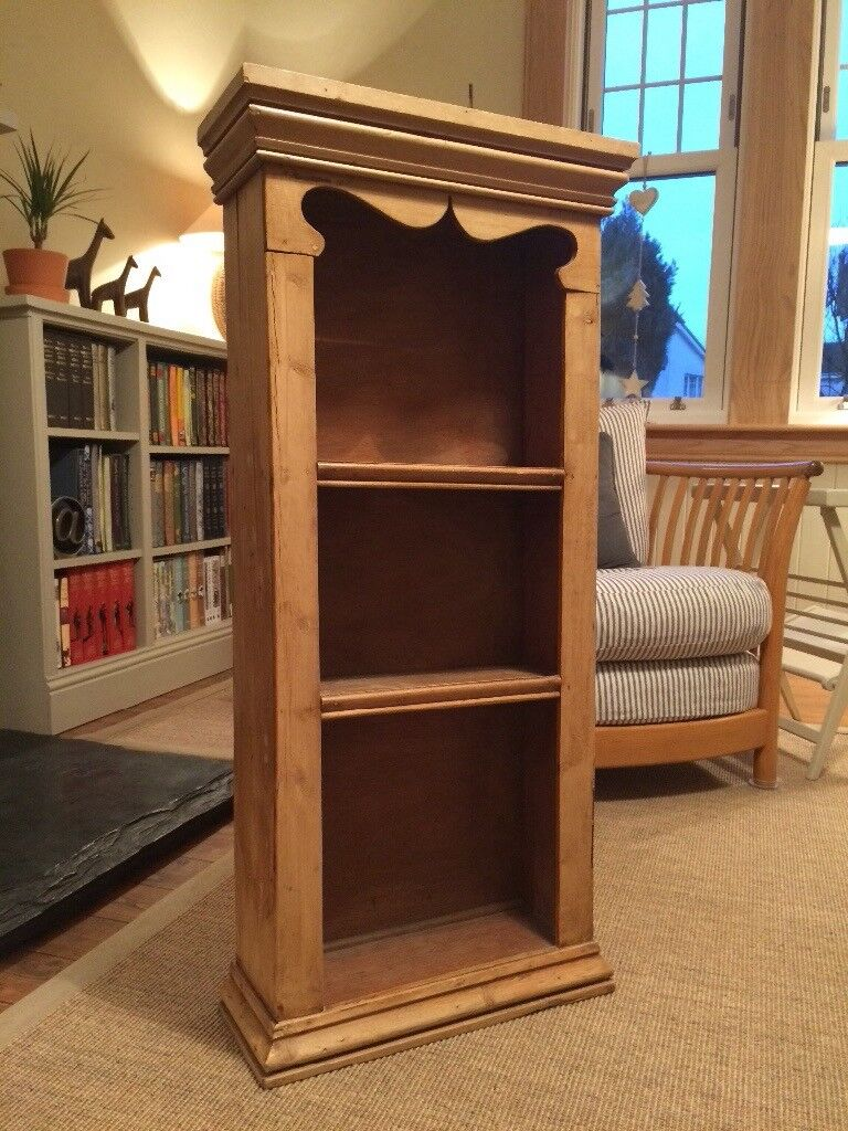 Old Pine wall mounted shelf/bookcase