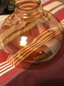 Steam punk electric pendant glass shade