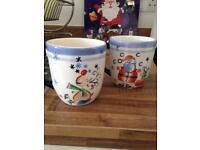 4 x Christmas large mugs (free)
