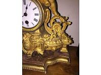 P H mourey dated sept 1874 rare clock